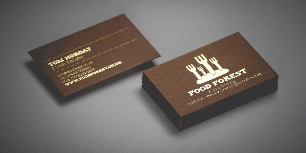 Food Forest - Foiled Business Cards 13