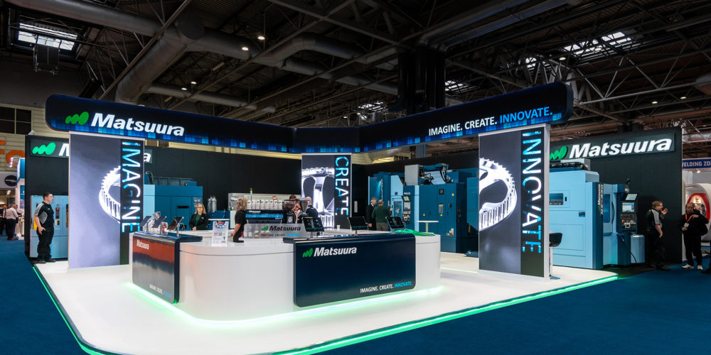 Matsuura exhibition stand design at Mach 2018, NEC